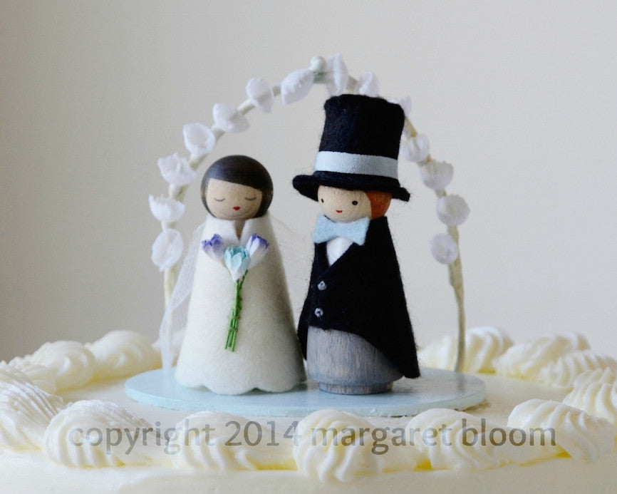 Peg Dolls Wedding Cake Topper