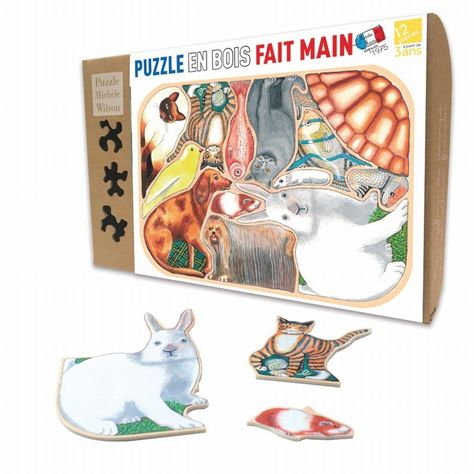 Pet Animals Folly - Wooden Jigsaw Puzzle