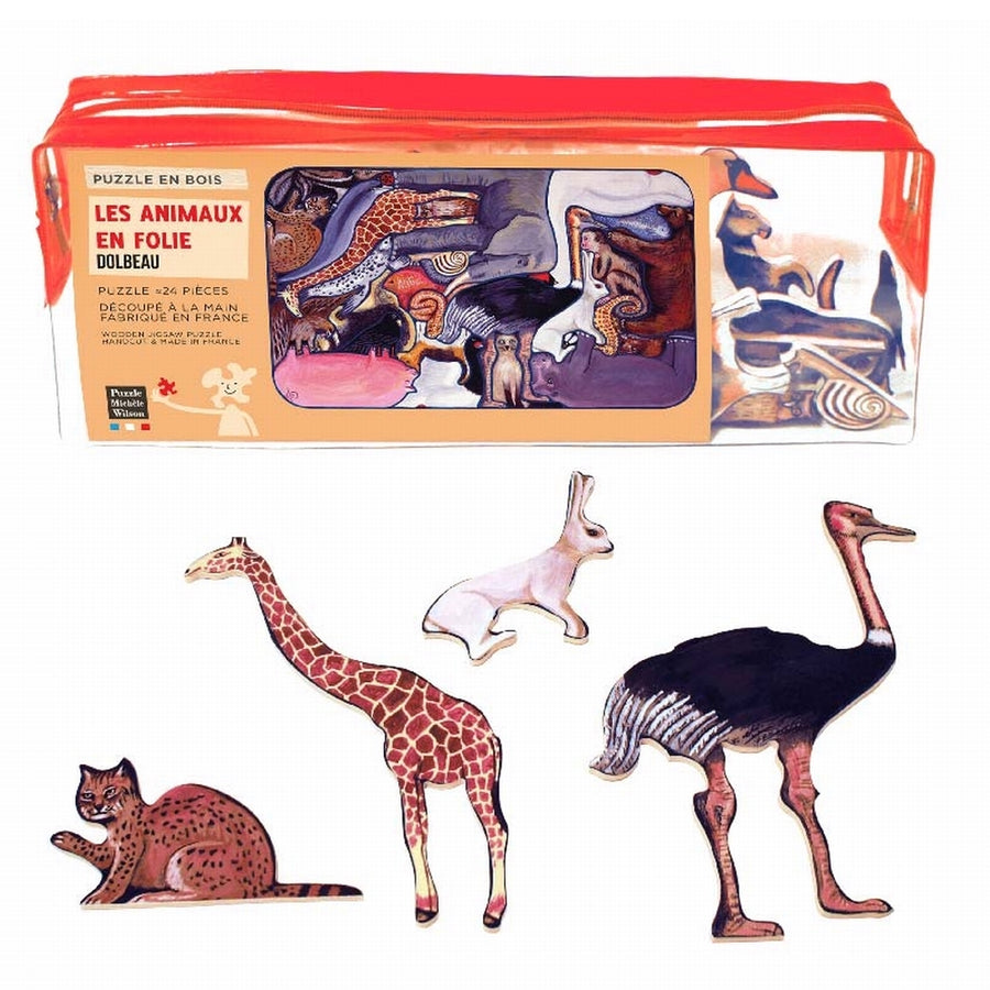Animal Folly Wooden Puzzle - Puzzle Michele Wilson - Bella Luna Toys