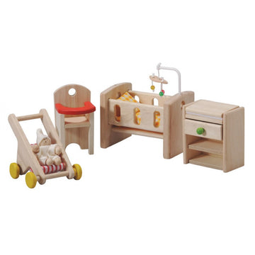 Plan Toys Wooden Dollhouse Furniture - Nursery - Plantoys 7329