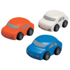 Plan Toys Wooden Family Cars, Set of 3