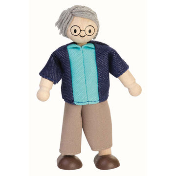 Plan Toys Grandfather Dollhouse Doll 9850 - Bella Luna Toys