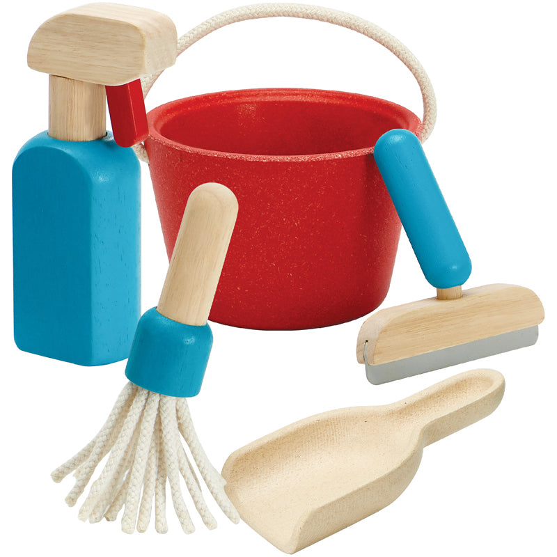 PlanToys Wooden Cleaning Set - Pretend Play - Plan Toys - Bella Luna Toys