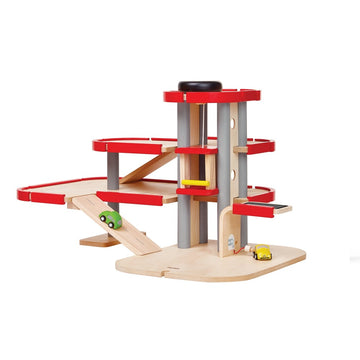 Plan Toys Wooden Parking Garage - Bella Luna Toys