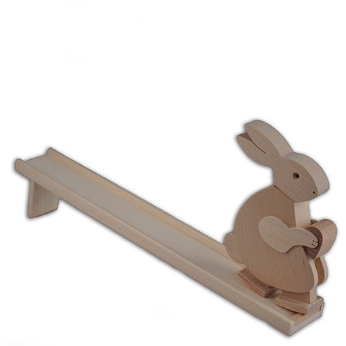 Walking Bunny Rabbit, Wooden Toy, Germany