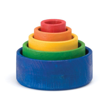 Rainbow Nesting Bowls - Grimm's Spiel & Holz of Germany - Bella Luna Toys