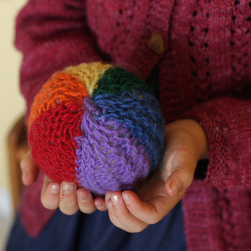 Rainbow Ball - Kids Waldorf Knitting Kit