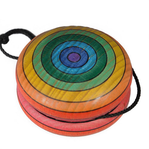 Rainbow Wooden Yo-Yo, Red
