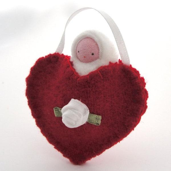 Felt Heart Pocket Baby