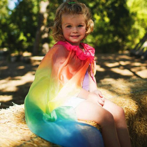 Rainbow Birthday Cape from Sarah's Silks