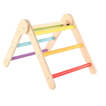 Sawdust & Rainbows - Little 'Un Pikler Wooden Climbing Frame - Rainbow - Bella Luna Toys