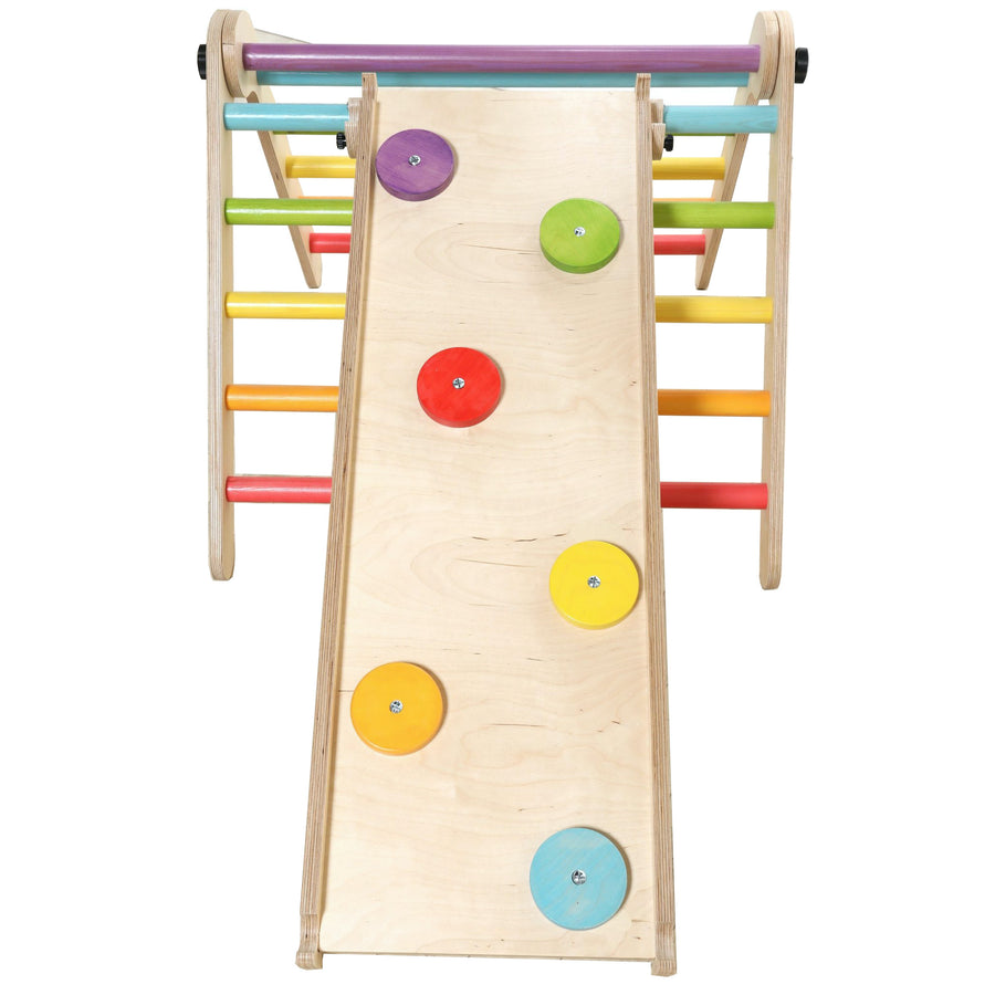 Sawdust & Rainbows Climbing Discs Pikler Slide Accessory | Bella Luna Toys