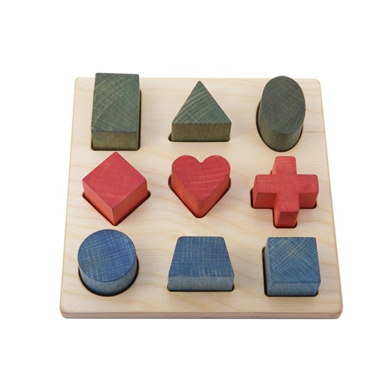 Rainbow Shape Wooden Puzzle - Wooden Story - Bella Luna Toys