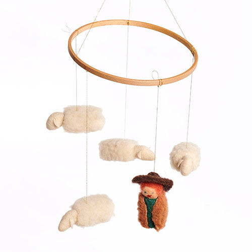 Little Lambs Mobile Crafting Kit - Waldorf Crafts - Bella Luna Toys