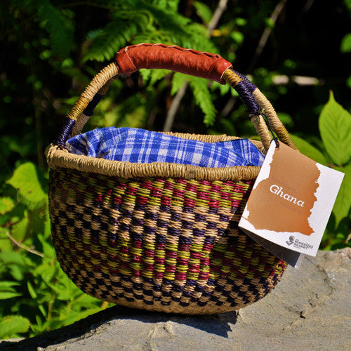 Bolga Baskets, Ghana, Small Lunch Basket