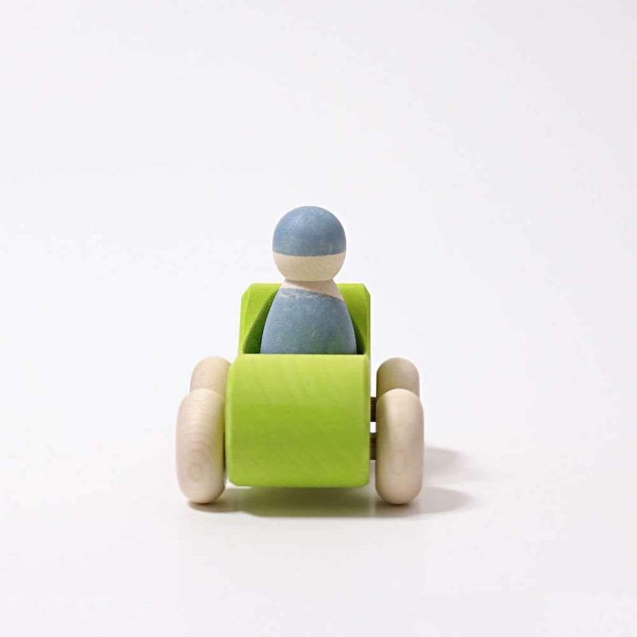 Wooden Green Convertible - Rear - Grimm's Spiel & Holz - Bella Luna Toys