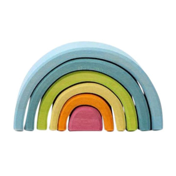 Small Wooden Pastel Mini Rainbow Tunnel - Grimm's Spiel & Holz - Bella Luna Toys