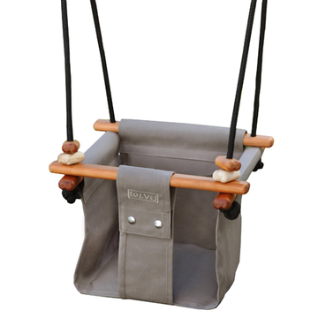 Solvej Baby-Toddler Indoor-Outdoor Swing - Taupe