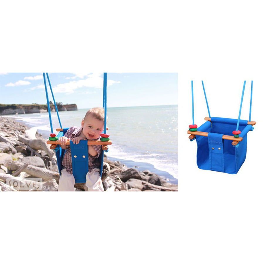 Solvej Baby-Toddler Indoor-Outdoor Swing - Pacific Blue