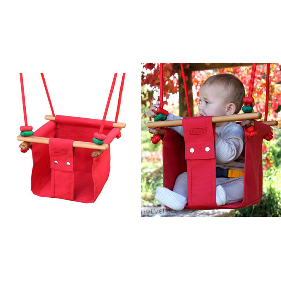 Solvej Baby-Toddler Indoor-Outdoor Swing - Pohutukawa Red