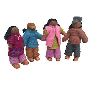 Colours of Australia | Papoose | Wool Felt African Standing Doll Family | Bella Luna Toys