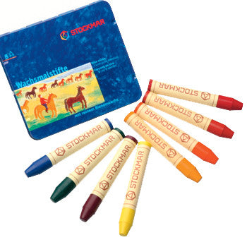 Stockmar Wax Crayons - 8 Sticks - Waldorf Mix
