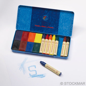 Waldorf Beeswax Crayons, Blocks + Sticks, Tin
