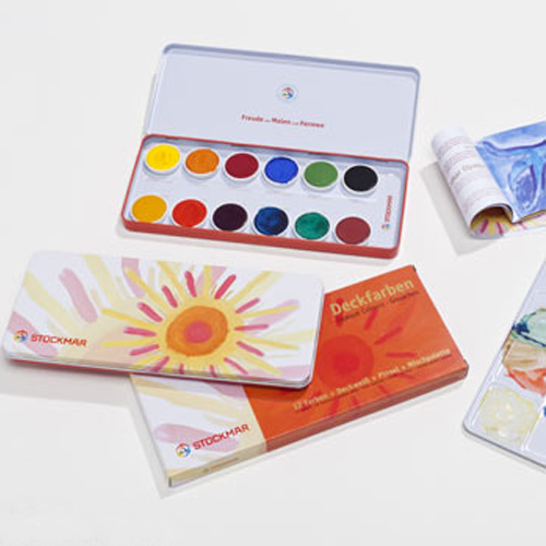 stockmar opaque colours watercolor paints
