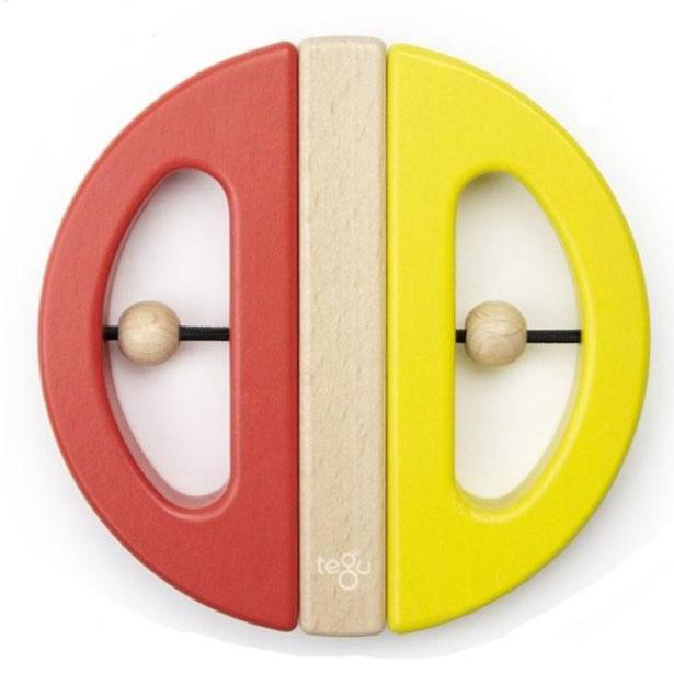 Tegu Wooden Magnetic Swivel Bug, Yellow and Poppy