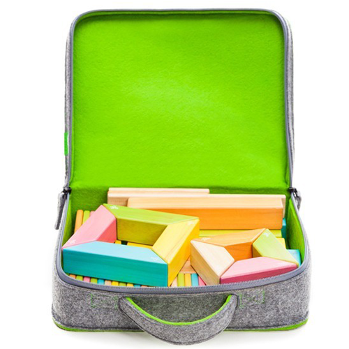 Travel Felt Travel Tote with Blocks