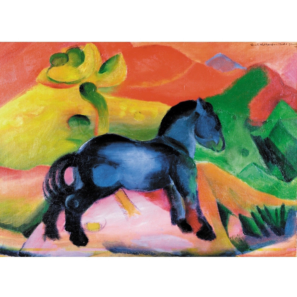 The Blue Horse - Kids Wooden Jigsaw Puzzle