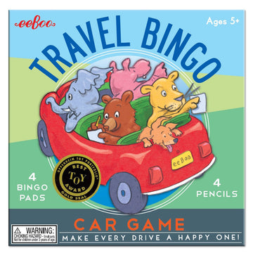 Travel Bingo Car Game - eeBoo - Bella Luna Toys
