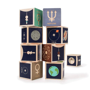 Uncle Goose Planet Wooden Blocks Set - Bella Luna Toys