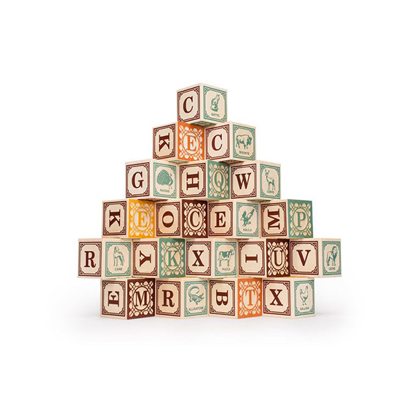 Uncle Goose | Italian Wooden Alphabet Blocks | Bella Luna Toys
