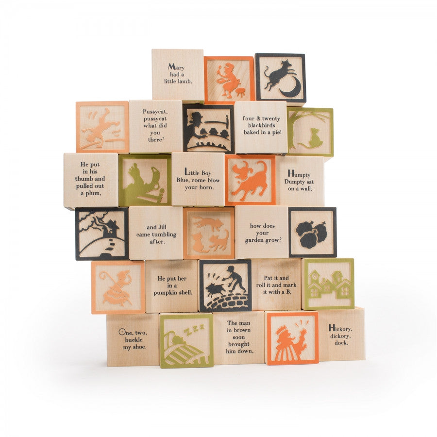 Uncle Goose Wooden Nursery Rhyme Blocks