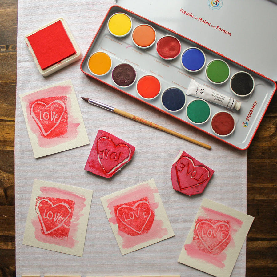 Carve-a-Stamp Kit - Lifestyle - Bella Luna Toys