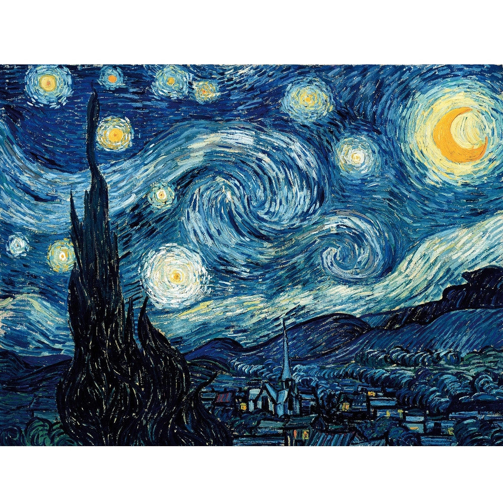 Kids Wooden Puzzle Van Gogh Starry Night 50 Pieces