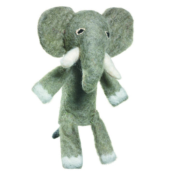 Wool Finger Puppet - Elephant