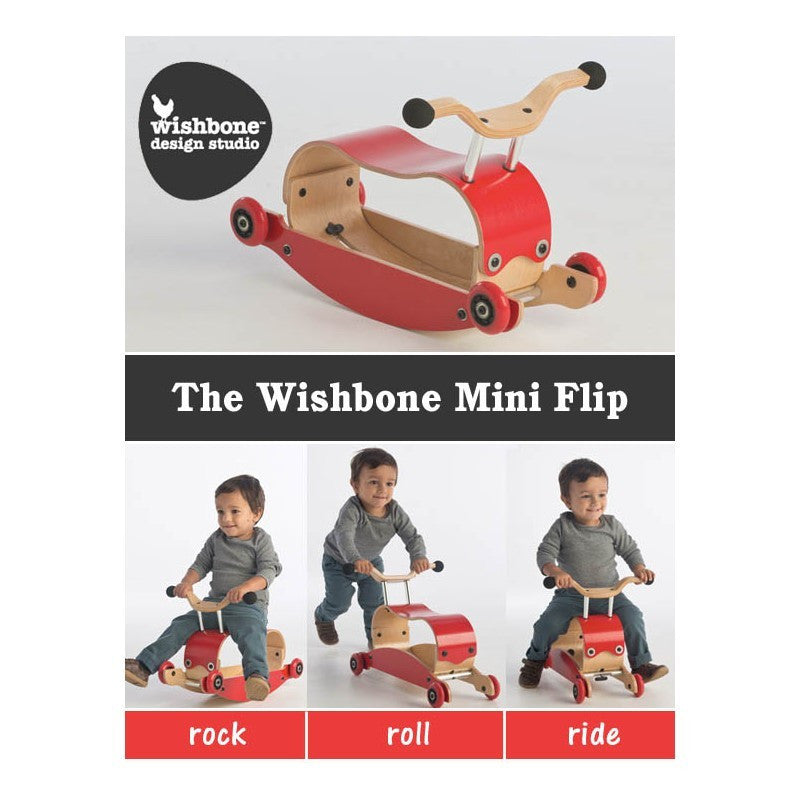Wishbone Mini Flip Red Rock Roll Ride