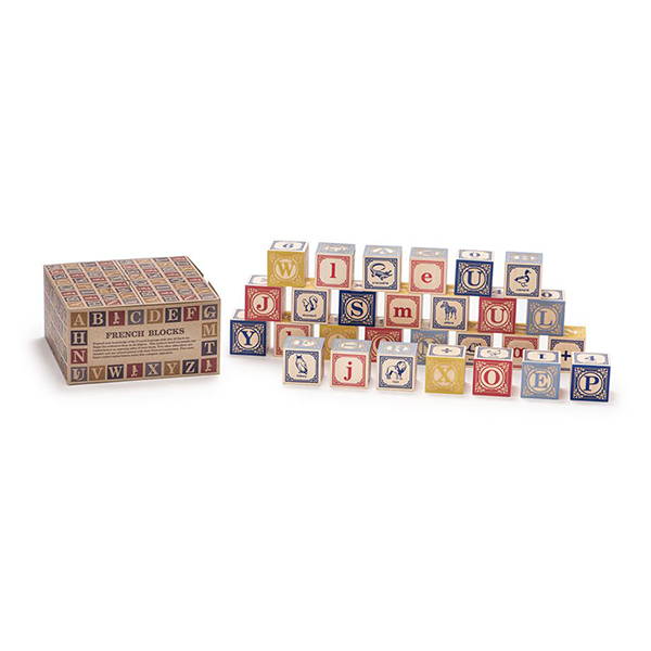 Uncle Goose | French Wooden Alphabet Blocks | Bella Luna Toys