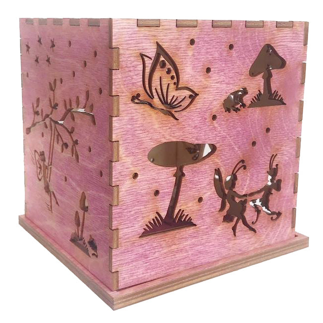 Wooden Luminary - Kids Night Light - Fairy - Fairies - Pink - Bella Luna Toys