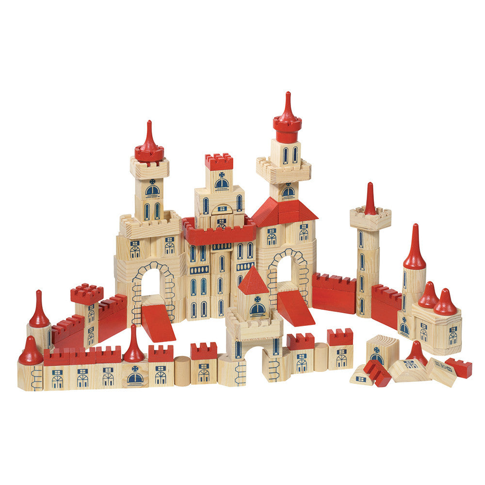 Wooden Castle Building Blocks Set