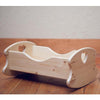 Wooden Doll Cradle with Hearts