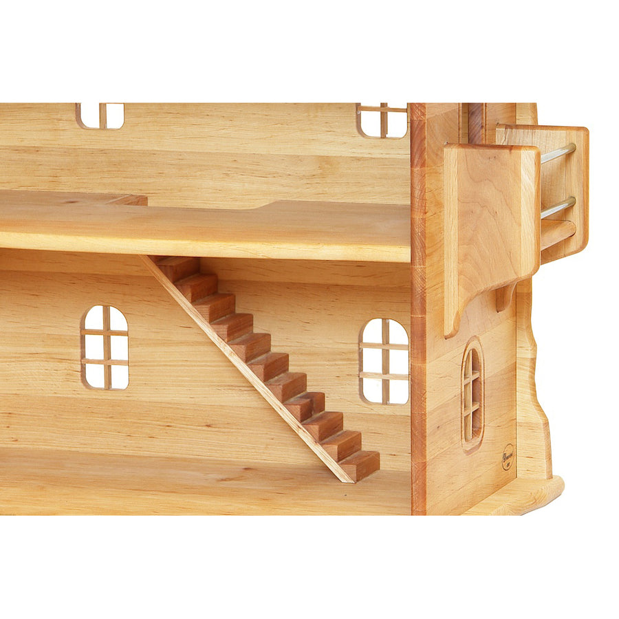 Wooden Dollhouse with Stairs and Balcony | Poland | Bella Luna Toys