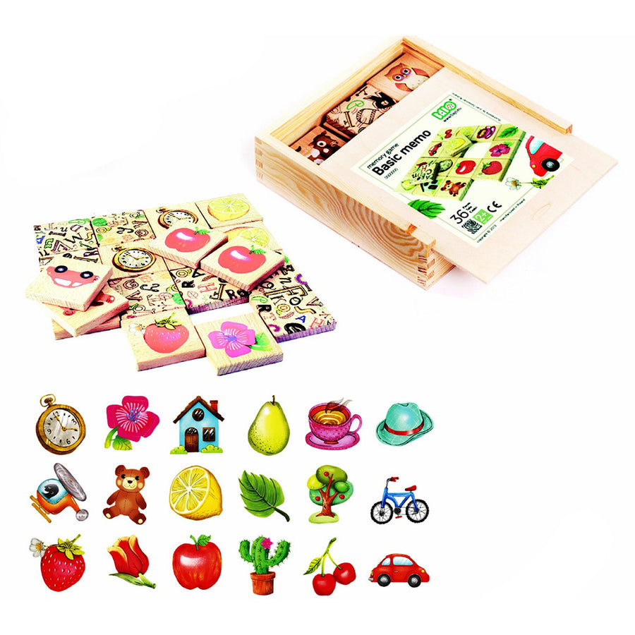 Wooden Memory Game