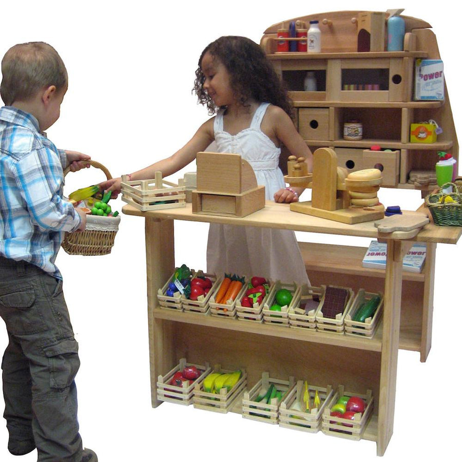 Wooden Play Grocery Store and Market Stand, Made in Germany