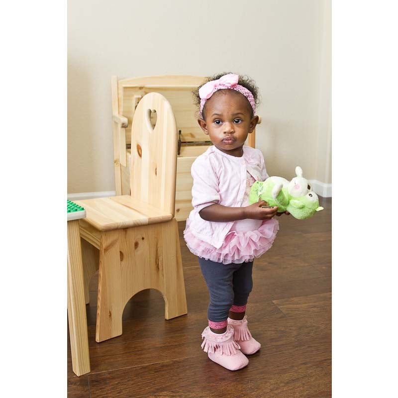 wooden chair for toddlers - girl