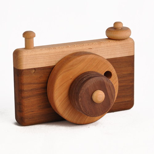 Kids Wooden Toy Camera, Made in USA