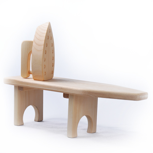 Wooden Toy Tabletop Ironing Board & Iron