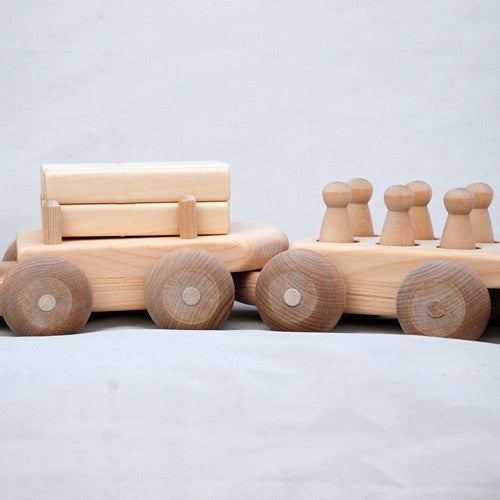 Wooden Toy Train Set
